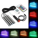4 stks Auto RGB LED DRL Strip Licht LED Strip Verlichting