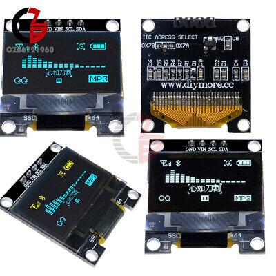 0.96i2c Iic Serial 128x64 Oled Lcd Led Display Module Ssd1306 Yellow Bluewhite
