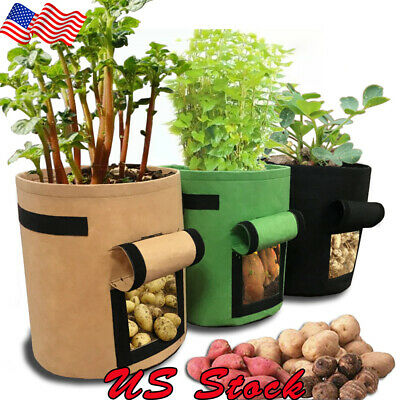 (DIY Potato Garden Grow Bag Planting Container Bag Vegetable Gardening jardineria)