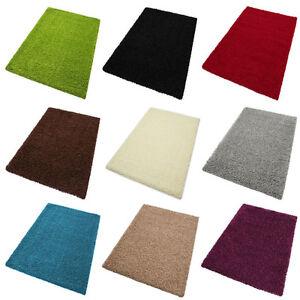 Langflor Hochflor Teppich Shaggy High Versch Größen U Farben Carpet ...