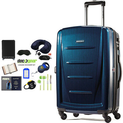"Samsonite Winfield 2 Fashion HS Spinner 28"" Deep Blue + Luggage Accessory Kit"