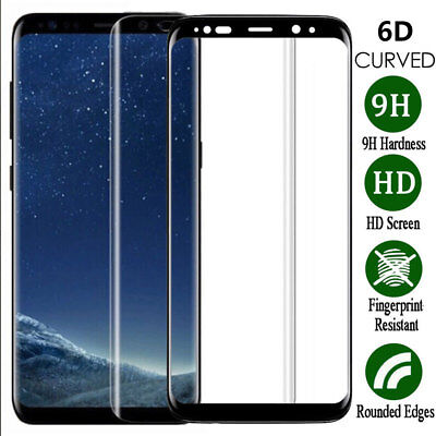 6D Screen Protector For Samsung Galaxy S7edge S8 S9 Plus Best 9H Tempered (Best Tempered Glass Screen Protector S7 Edge)
