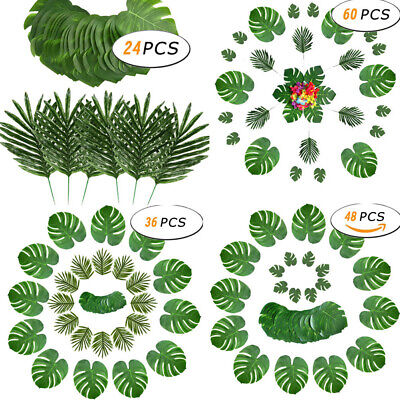 Diy Palm Tree (Artificial Turtle Palm Tree Leaf Green Plants Hawaii Beach Party DIY Decoration)