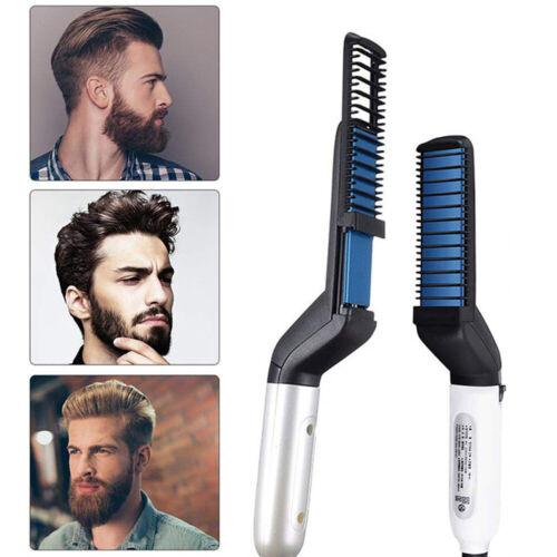 Männer Haarglätter Bürste Glätteisen Kamm Elektrische Bart Shaping Haar Styler