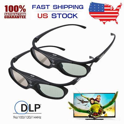 2 packs dlp active shutter 3d glasses