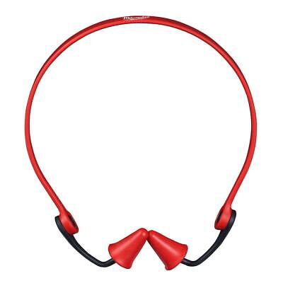 Milwaukee Banded Red Reusable Earplugs with 25 dB Noise Reduction Rating