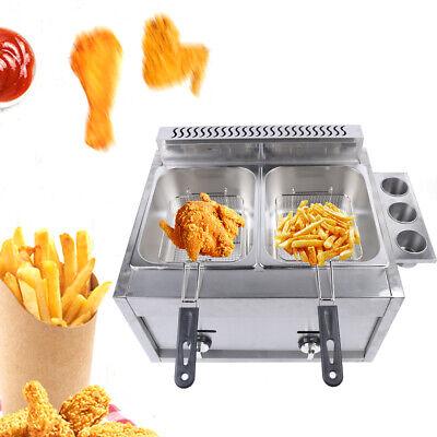 Countertop Gas Fryer Deep Propane Multifunctional Combined Fryer Set Hotsale Usa