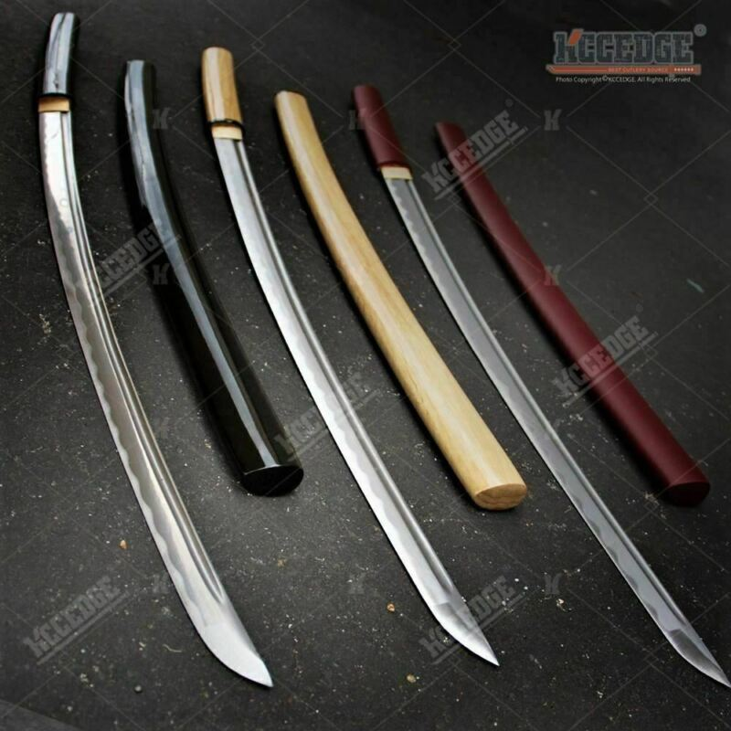 "USA STOCK 40"" Sharp Handmade Japanese Shirasaya Sword Onikiri Samurai Katana w/"