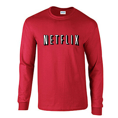 Netflix Long Sleeve Movie Night Halloween TShirt Costume Netflix and Chill Tee - Netflix Halloween