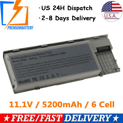 6 Cell Battery for Dell Latitude D620 D630 D640 PC764 TC030 Laptop