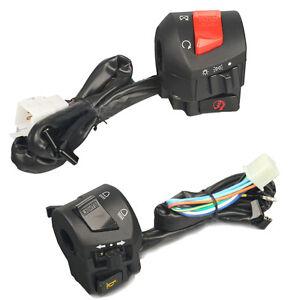 2x Universal 7/8'' Motorcycle Handlebar Horn Turn Signal Light Control Switch