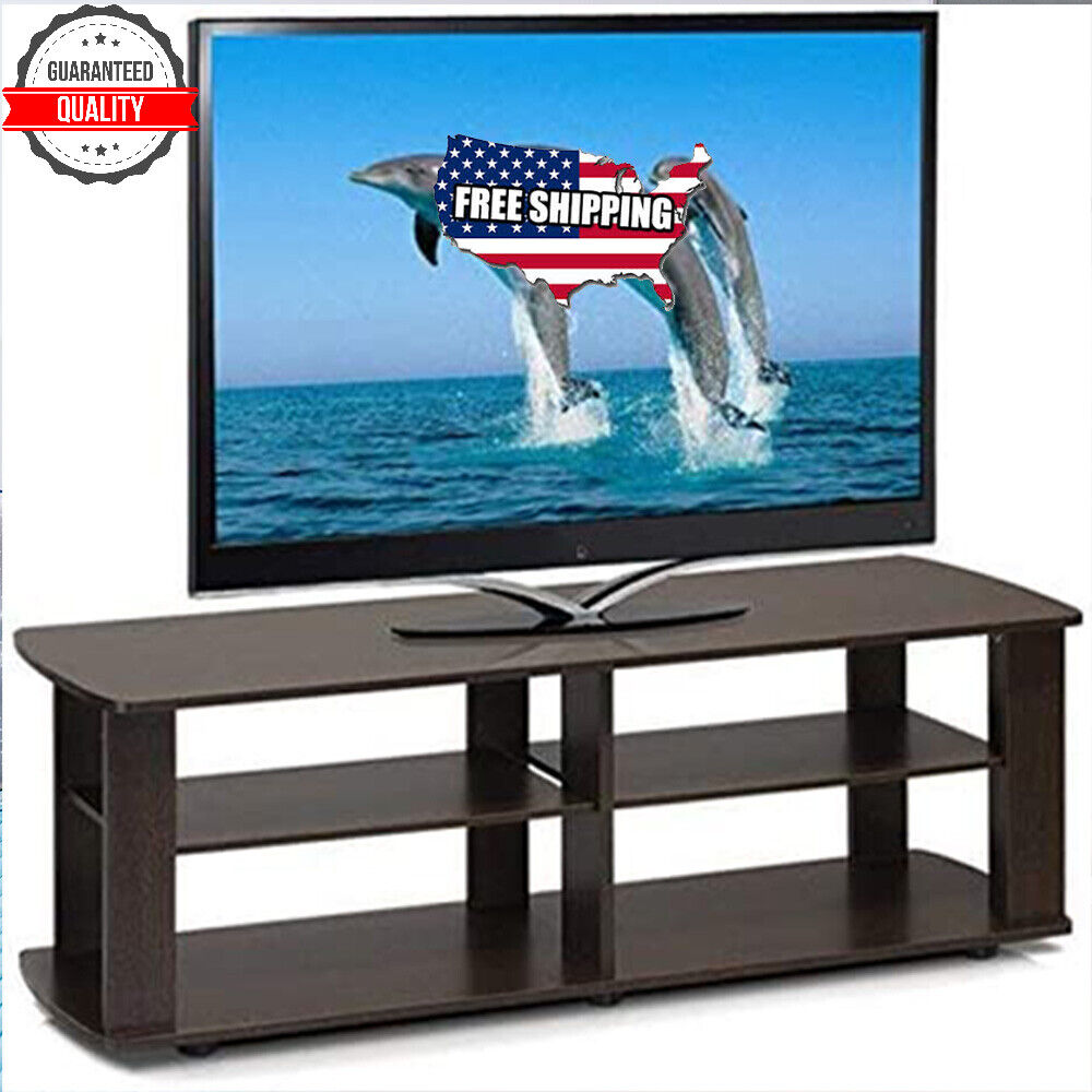TV Console Stand Entertainment Media Black Center For 42 50