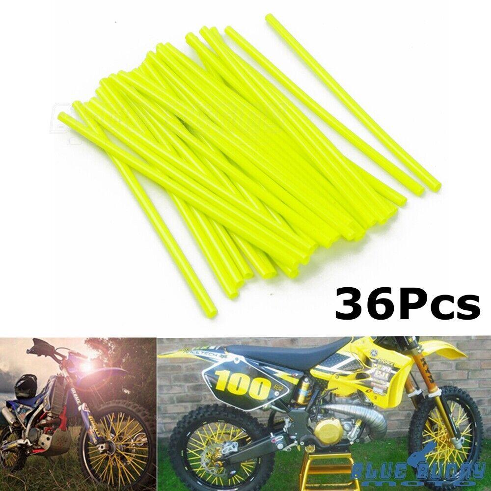 36pcs Universal Motorcycle Wheel Rim Spoke Skins Covers Wrap Decor Protector Kit