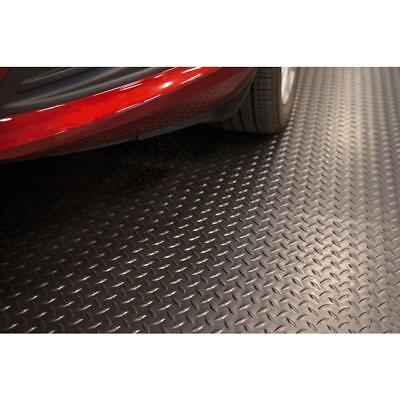 Black Universal High Quality Flooring Raised Diamond Mat Garage 7.5 ft. x 14 ft