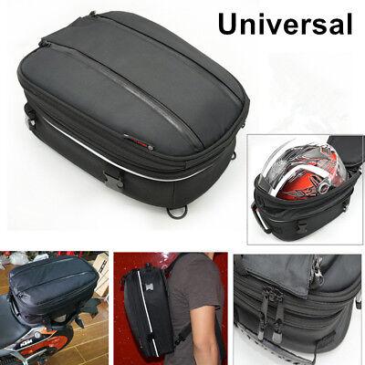 20L Motorcycle Sport Saddle Bag Rear Seat Car Tail Bike Scooter Helmet Back Pack
