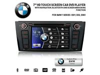 "BMW 1 Series 2004-11 7"" Car Audio CD DVD Player GPS Radio USB SD AUX Bluetooth Handsfree Stereo For"