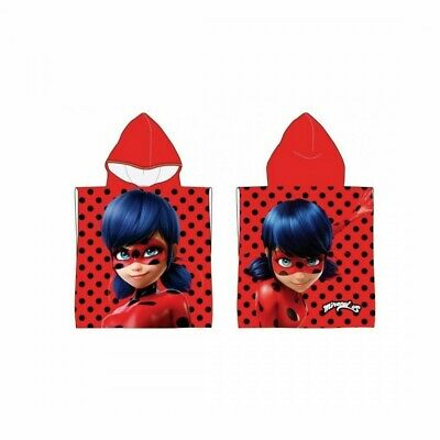New Beach Poncho Towel Ladybug Miraculous Girl Red Official