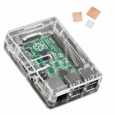 Transparent ABS Case Enclosure Box Heat Sink Kit for Raspber