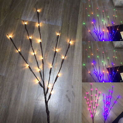 20 LED Tree Branch Lights Xmas Wedding Party Home Decor Fairy String Lamps ()