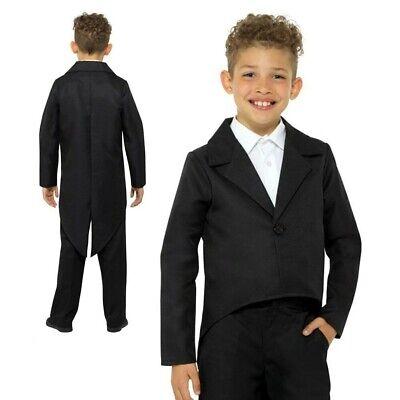 Kind Schwarz Frack Jacke Kabarett Zauberer Kostüm Outfit Kinder - Kabarett Kostüm Kinder