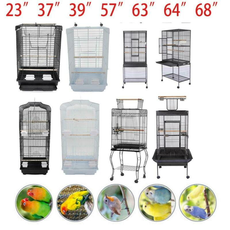 "23""37"" 57"" 39"" 63"" 64"" 68""Small Large Bird Cage Parrot Cages House with Perches"