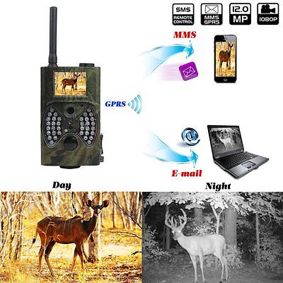 Wildkamera Weitwinkel GPRS Email Wild Jagdkamera Nachtsicht IR HC-300M &7