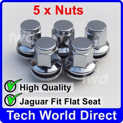 09-16 Chrome Wheel Bolt Nut Covers GEN2 19mm For Jaguar XJ X351