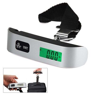 Portable 50kg/10g Weight LCD Display Electronic Travel Hanging Luggage Scale