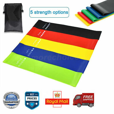 Elastic Fitness Resistance Bands Gym Set Latex Exercise Training Rubber Expander
