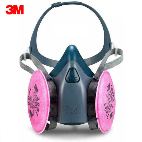 3M 7503 Respirator Large Size with 2097 Filters 7500 6300 U.S Seller Fast Ship!