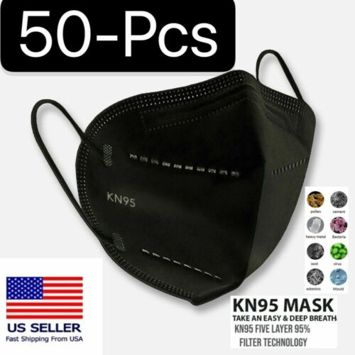 Black Or White Kn95 Protective 5 Layer Face Mask Disposable Respirator Bfe 95%