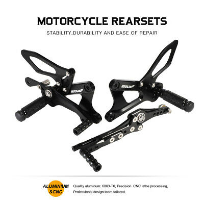 RACING BILLET CNC REARSETS FOOT PEGS PEDAL FOR <em>YAMAHA</em> YZF R6 600 2006