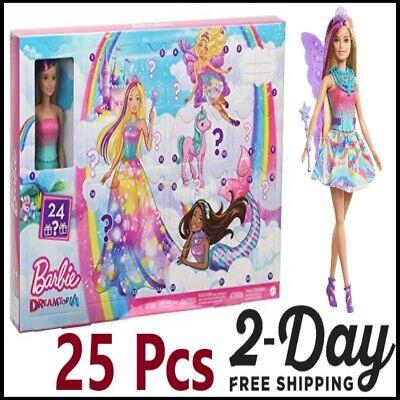 Dreamtopia Advent Calendar: Blonde Doll, 3 Fairytale Doll Fashions, 10 Accessor