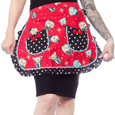 SOURPUSS HOLLY JOLLY PUPPIES CHRISTMAS APRON (Holly Apron)