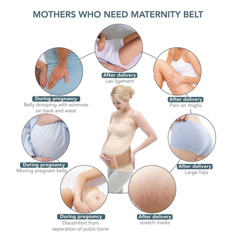 Diagram Of Pregnant Belly | Deluxe Maternity Support Band Abdomen Back Brace Pregnancy Belly