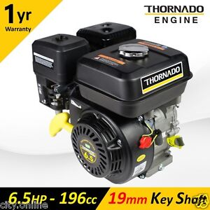NEW 6.5HP Stationary Petrol Engine 4 Stroke THORNADO Honda Copy Motor 19mm Shaft