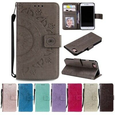 Apple iPhone SE [2020] Handy Hülle Flip Case Cover Bumper Handytasche Mandala
