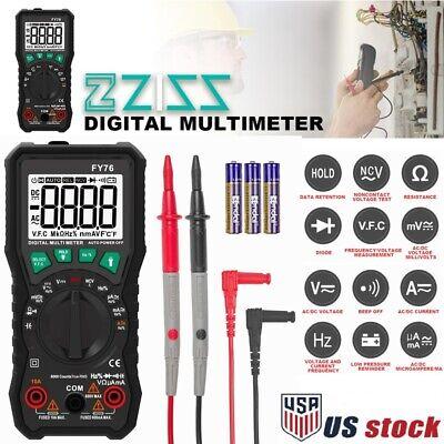 Digital Multimeter Auto Ranging Ac Dc Voltmeter Amp Ohm Volt Tester Multi Meter