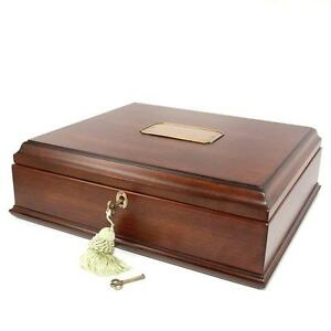 Old World Wooden Treasure Box and memory Box with Brass Latch by decorebay