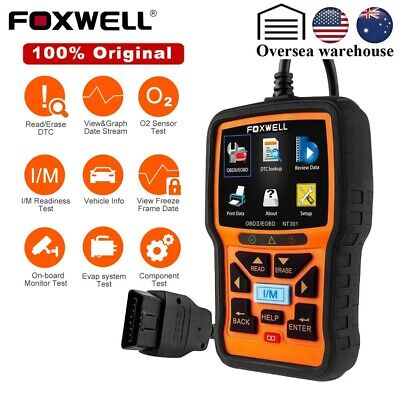 Foxwell NT301 EOBD OBD2 Full function Engine Code Reader Scanner Diagnostic