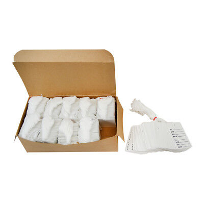 White 1000 Pcs Large Perforated Strung Hang Tags With String Coupon Price Paper