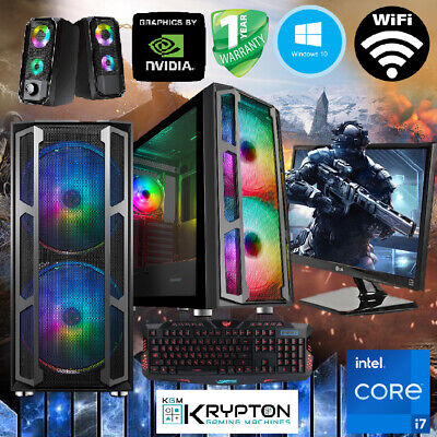 ULTRA Gaming PC Bundle Intel Core i7 16GB 240GBSSD+1TB Win10 GTX 1050...