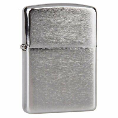 Zippo Armor Lighter, Brushed Chrome, Windproof Pocket #162 Armor Brushed Chrome Zippo Lighter