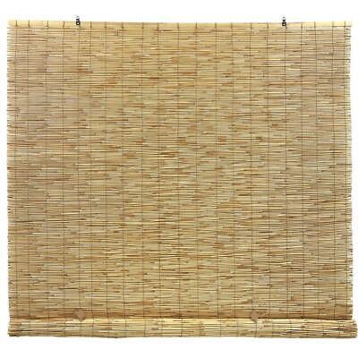 Indoor Outdoor Window Blinds Natural Bamboo Roll Up Shade Su