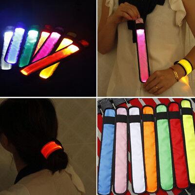2 x Reflective Bands Leg Arm Strap Bike Bicycle Safety Pant Belt Glow New P*