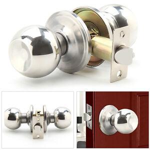 Internal DOOR KNOBS KNOB SETS Entrance Passage Bathroom Lock STAINLESS STEEL