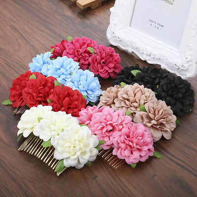 Women's Flower Hair Comb Pins Combs Bridal Wedding Party Hair Clips Accessories ()