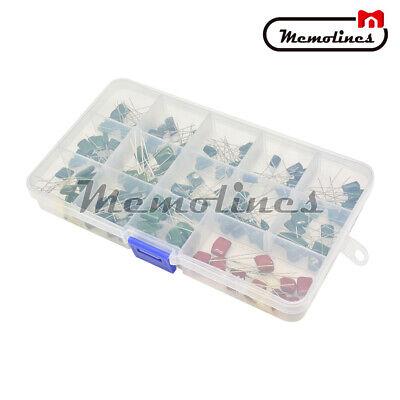 140pcs 630v 14values Polyester Capacitor Assortment Electrolytic Kitplastic Box