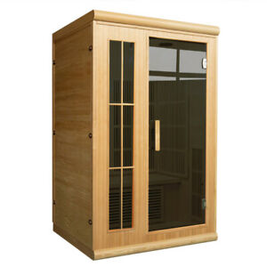 Hirsi 2 Person Carbon Fibre Infrared Sauna