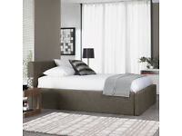 (£1150) Dwell double storage bed + mattress (excellent condition)